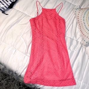 NWOT LILLY PULITZER lined crocheted dress